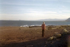 Me, in 1978, on some forlorn and forgotten shore of the Gulf of California