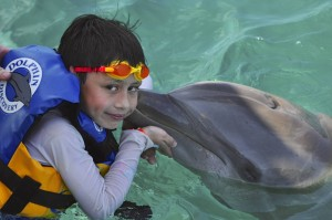 James and a Dolphin